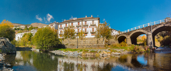 The offices and ham curing house of Jamones Nevadensis in Trevélez